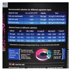 Red Sea Coral Pro Salt Mix 175 Gallon/ 22 Kg